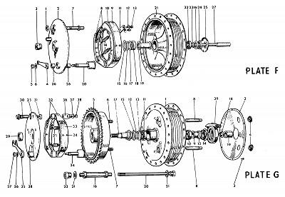 Norton Parts Drawings - Genuine Norton Factory Parts - Commando Parts -