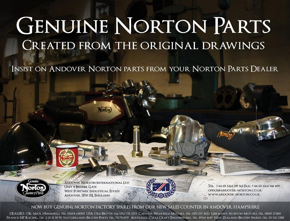 Norton Motorcycle Sparts Specialist - Genuine Norton Factory
