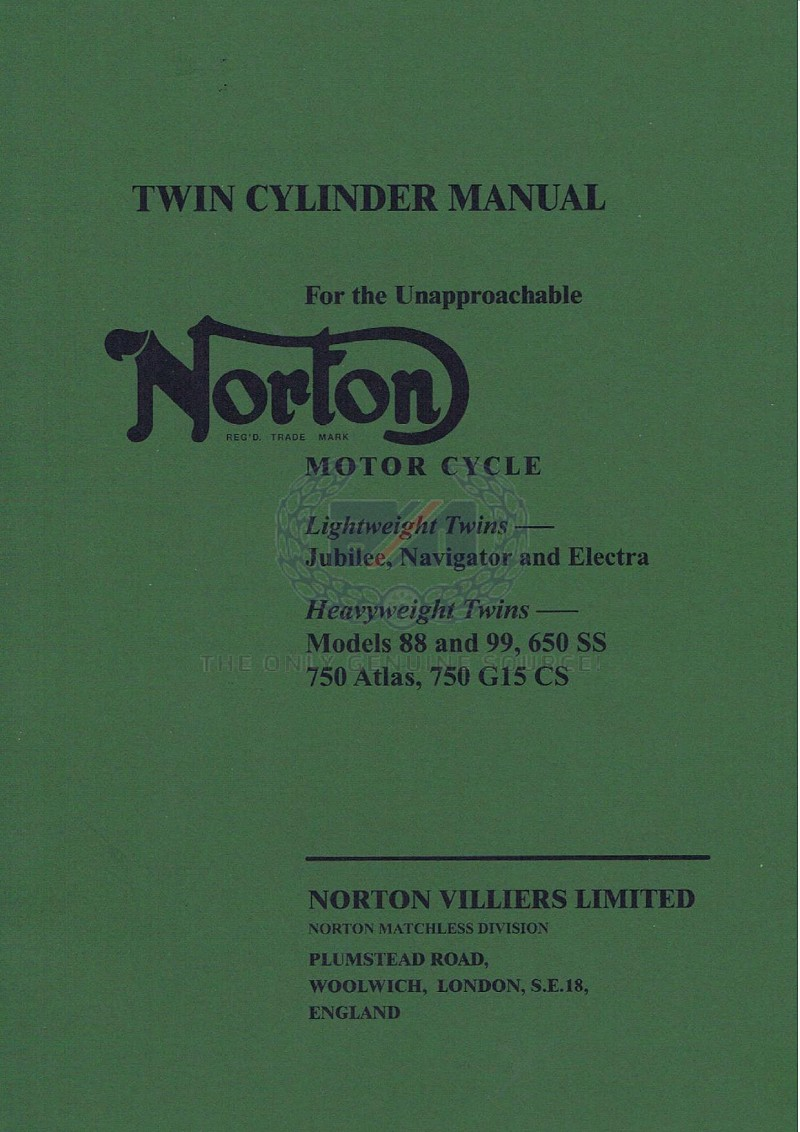 Norton Spare Parts - Genuine Norton Parts - Norton Motor - Norton